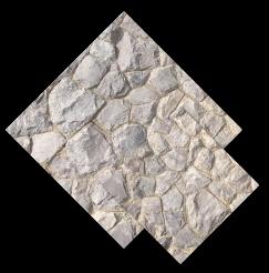 หินภูเขา ปูผนัง สีเทาขาว