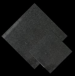 หินธรรมชาติ Black Basalt สีดำ